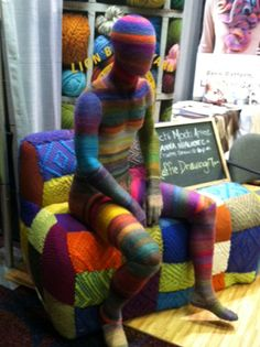 Cool Mannequin at Vogue Knitting Live, Hilton NY. Jan 13 2012