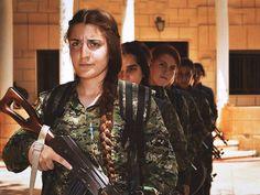 YPJ-Women Freedom Fighters in Rojava-Kurdistan-Kurdish-Syria