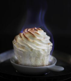 Flaming Baked Alaska Cupcakes - possibly the HOTEST cupcakes on the web. (hehe)