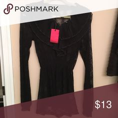 ✨NWT✨ Kische Black Long Sleeve Lace Evening Shirt Made in turkey size large   🚫 No Trades ✅ Reasonable Offers considered  🚭 Pet free, smoke free home Kische Tops