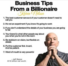 5 Essentials For Entrepreneurial Success Business Tips from a Billionaire - Jeff Bezos Business Money, Business Advice, Business Quotes, Business Planning, Online Business, Business Education, Quotes Dream, Life Quotes Love, Wisdom Quotes