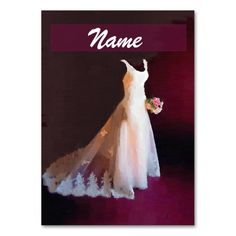 Wedding Dresses business cards. This great business card design is available for customization. All text style, colors, sizes can be modified to fit your needs. Just click the image to learn more!