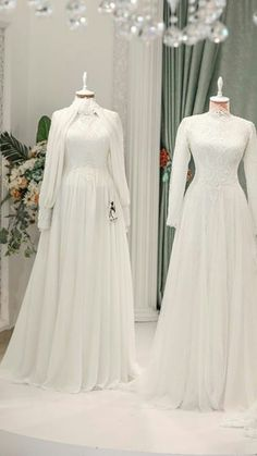 Dido Muslimah Wedding Dress, Muslim Wedding Dresses, Wedding Dress Sleeves, Wedding Dresses Plus Size, Bridal Wedding Dresses, Tulle Wedding, Dress Lace, Worst Wedding Dress, Dream Wedding