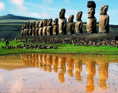 Easter Island, also known as Rapa Nui, is remotely located 2,000 miles off the coast of Tahiti. The original settlers of the island were Polynesians who migrated to the far-off land between 400 and 600 BC. They built many shrines and statues, called moai, from stones quarried throughout the island including a volcano site. Researchers still question exactly how the large stones were moved.
