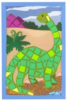 Foam Dinosaur Mosaic Craft Kit Scene $3.60