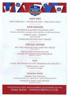 D&M #porkpies Melton Mowbray Pork Pie, Chicken Ham, Carrot Cake Cookies, Fruit Drinks, Deli, Amp, Fruity Drinks