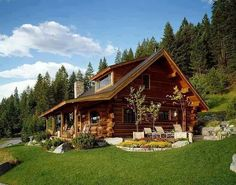 Log homes, log cabins, chalets and log home builders. DIY log cabin kits & wholesale log homes. Log Cabin Plans, Log Home Floor Plans, Log Cabin Homes, Log Cabins, House Plans, Small Log Cabin, Cabin In The Woods, Cabins And Cottages, Style At Home