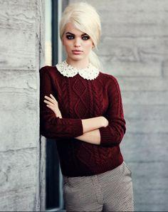 Linee sartoriali, colori pastello e colletti gioiello per la collezione elegante e glam di H per l'autunno 2012