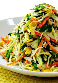 Fresh Summer Veggie Slaw! Perfect healthy side dish for your summer cookouts!