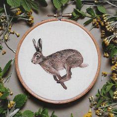 Realistic Animals Portraits Embroideries – Fubiz Media
