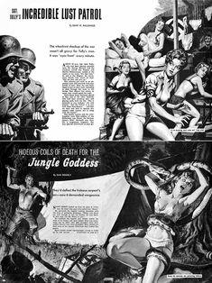 World of Men, two stories Pulp Fiction Art, Pulp Art, Vampire Bites, Adventure Magazine, Pulp Magazine, Vintage Magazines, Cover Art, Vintage Art, Fantasy Art