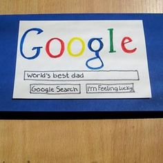 Greatest Dad Google Card {Happy Father's Day Card}
