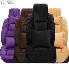 car wind Flocking Cloth Plush Universal car seat cover For lada granta fiat palio mazda 626 rx 460 mitsubishi pajero 2 accessory