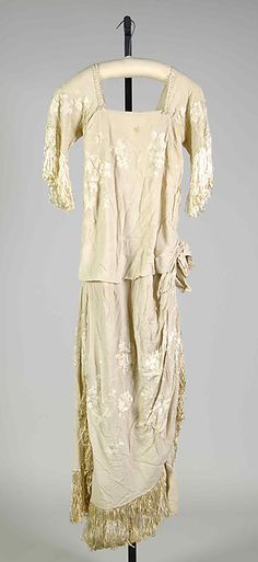 Evening dress Date: 1918–20 Culture: American Medium: Silk, beads Accession Number: 2009.300.7400