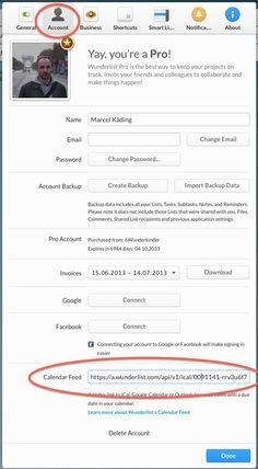 #Wunderlist | How to use Wunderlist's Calendar Feature.  #socialmedia #todolist