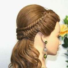 Hair Style Vedios : Easy prom hairstyles for long hair, bridal hairstyle tutorial. Watch ...