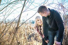 Winter Woods Engagement Portraits | L Estelle Photography | See more! http://heyweddinglady.com/enchanted-winter-woods-engagement-from-lestelle-photography/
