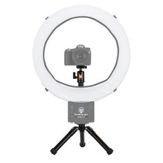 DVeStore - Diva Ring Light Mini Desk Tripod, $54.95 (http://www.dvestore.com/lighting/ring-lighting/diva-ring-light/diva-ring-light-mini-desk-tripod/)