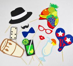 Havana party props props on a stick by LeStudioRose on Etsy