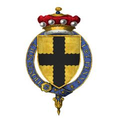 Coat of Arms of Sir John de Mohun, Baron Mohun, KG (Founder Knight) Order Of The Garter, Robert D, Templer, 4th November, Plantagenet, Family Crest, Coat Of Arms, Medieval, Wikimedia Commons