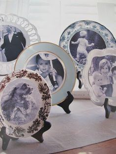 Easy portrait plate tutorial. Note to self- use this with BHG's family tree wall.