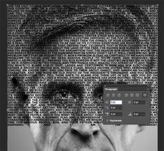 In today's Photoshop tutorial we're going to create a cool portrait effect using a long passage of text that bends and deforms around the contours of the face. Known as a Calligram.