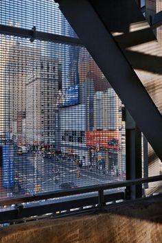 Marvelous New York Port Authority Bus Terminal Transparent Media Facade New York Port Authority
