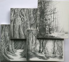 Classic black and white artwork creativ art, art galleri, art paintings, draw something, into the woods, white artwork, kirsti olearyleeson, artist, photo collages