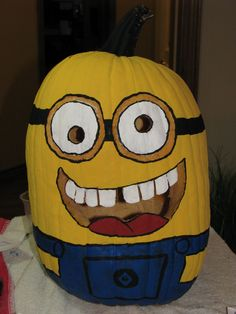 Minion Pumpkin from Despicable Me!!