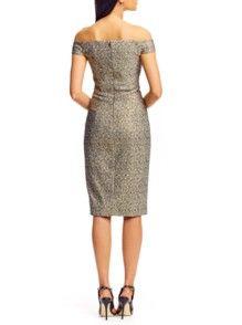 Jacquard Off Shoulder Dress