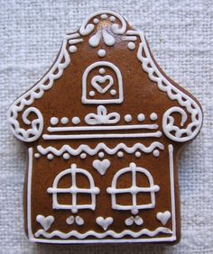 Christmas Food Gifts, Christmas Craft Projects, Christmas Gingerbread House, Christmas Sweets, Christmas Cooking, Merry Christmas, Fancy Cookies, Xmas Cookies, Iced Cookies