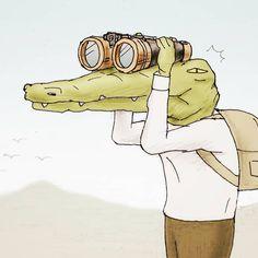 ⛰️ Crocodile Rock, Funny Doodles, Moriarty, Comic, Japanese Artists, Graphic Tees, Artsy, Cartoon, Manga