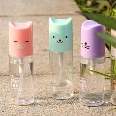 Cute Cartoon Mekeup Spray Bottle Cosmetic Bottles, Cute Beauty, Cloth Bags, Makeup Tools, Korean Beauty, T 4, Cute Cartoon, Spray Bottle, Perfume Bottles