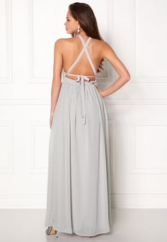 eee44dcde183 Make Way Cora Maxi Dress Light grey - Bubbleroom