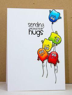 Creative Inspirations: Jane's Doodles - sending monster hugs...
