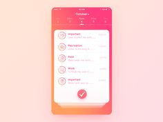 Ui Day03 For every day to deal with a lot of affairs of the students, an interactive efficient and good looking task planning application is simply a tool for work