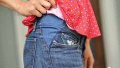Featured: Letting Out Jeans Tutorial