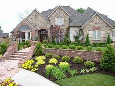 ogród frontowy, ogród, rośliny przed domem, rabata, ogród przed domem