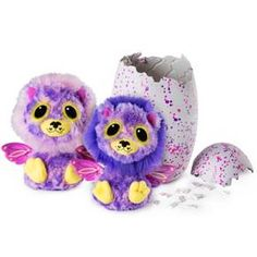 Hatchimals Surprise are finally here and they have an unEGG-spected treat in store for you! For the first time ever, you can hatch TWO adorable Hatchimals! These loveable twins are hidden inside a magical speckled egg. Use your love and care to help them hatch! Hold and play with your egg and the Hatchimals inside will make delightful sounds that tell you how they feel! When its time to hatch, you'll see rainbow eyes! Once your first Hatchimal has pushed its way out of the egg, lift...