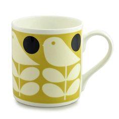 Orla Kiely House Early Bird Mug - Yellow