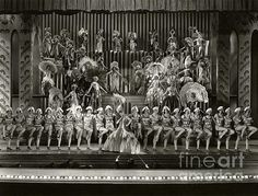 Irene Bordoni, surrounded by chorus girls, in the lost 1929 musical Paris. (Bizarre Los Angeles / Sad Hill Archive )