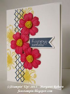 Flower shop set stampin up | Fun Stampin' with Margaret!: Stampin' Up!Flower Shop stamp set ...