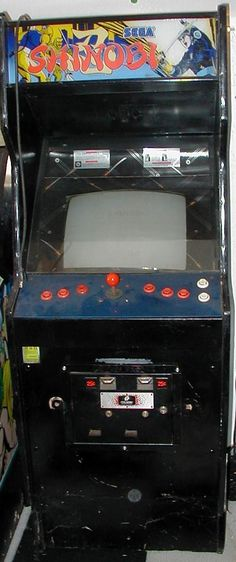 Old Shinobi Arcade Classic Video Games, Retro Video Games, Video Game Machines, Sega Video Games, Retro Arcade Machine, Borne Arcade, Arcade Console, Arcade Room, Old School Toys
