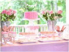 Ruffles + Roses Girl's Birthday Party Ideas!
