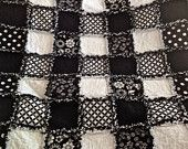 Bold Graphic Black and White Baby Scrap Quilt. $50.00, via Etsy.