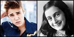 """Justin Bieber dice """"Anna Frank sarebbe stata una mia fan""""  - http://www.lavika.it/2013/04/justin-bieber-dice-anna-frank-sarebbe-stata-una-mia-fan/"""