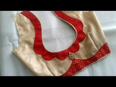 Easy patchwork blouse back neck design cutting and stitching /blouse designs - YouTube Patch Work Blouse Designs, Cutwork Blouse Designs, Saree Blouse Neck Designs, Stylish Blouse Design, Dress Neck Designs, Fancy Blouse Designs, Designs For Dresses, Blouse Designs Catalogue, Designer Blouse Patterns