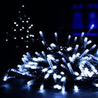 White led cluster chaser christmas tree lights 288 bulbs xmas white 100 led christmas lights supabrights max intensity leds for use indoors or outdoors complete aloadofball Choice Image