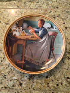 Norman Rockwell Collector's Plate Working in the by JewelzVintage