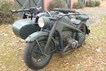 Bonhams : 1942 Zundapp KS750 Military Sidecar Frame no. 609584